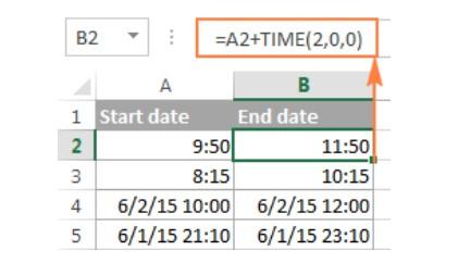 Cách tính chênh lệch thời gian trong excel 18
