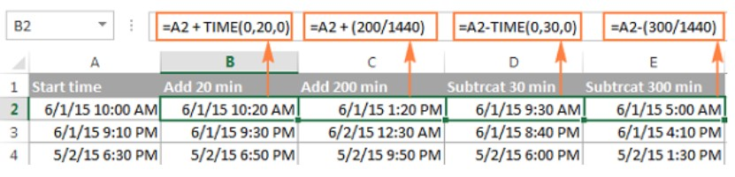 Cách tính chênh lệch thời gian trong excel 20