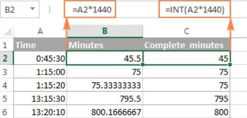 Hướng dẫn định dạng giờ phút giây trong Excel 3