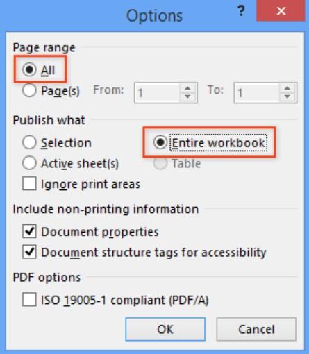 Chuyển đổi Excel sang PDF hàng loạt bằng Kutools for Excel 11