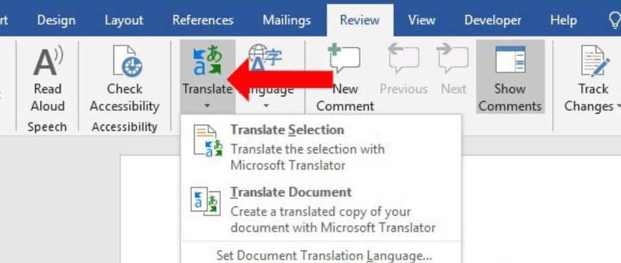Hướng dẫn cách dịch văn bản trong Word siêu nhanh 2