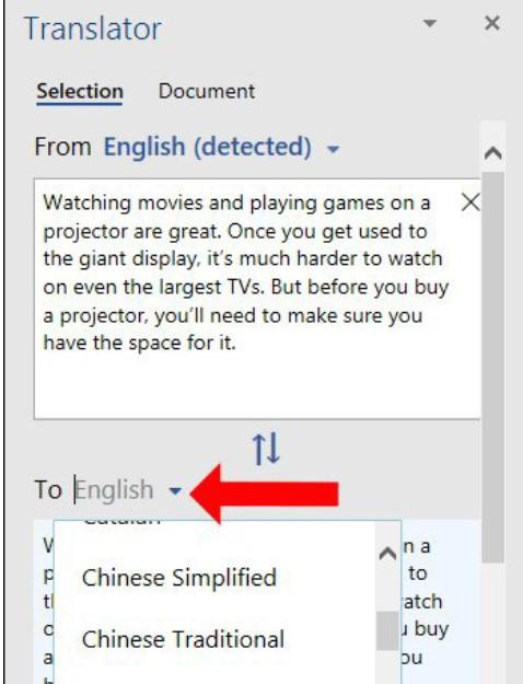 Hướng dẫn cách dịch văn bản trong Word siêu nhanh 5