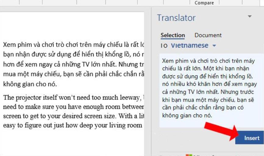 Hướng dẫn cách dịch văn bản trong Word siêu nhanh 6