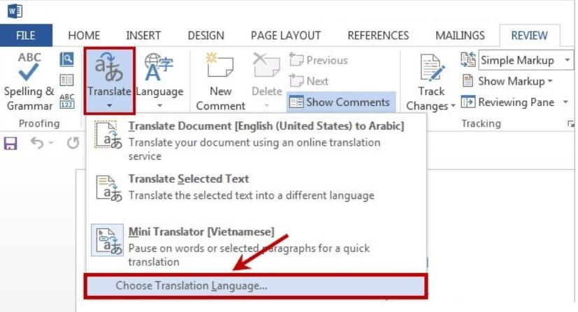 Hướng dẫn cách dịch văn bản trong Word siêu nhanh 8