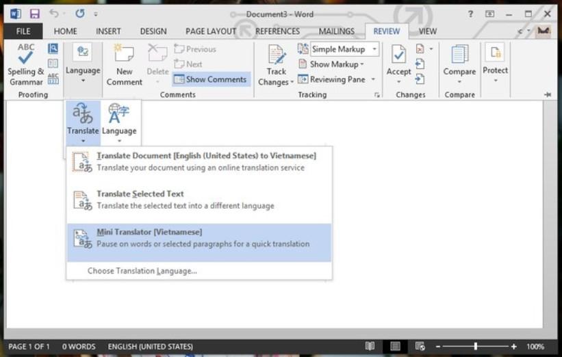 Hướng dẫn cách dịch văn bản trong Word siêu nhanh 10