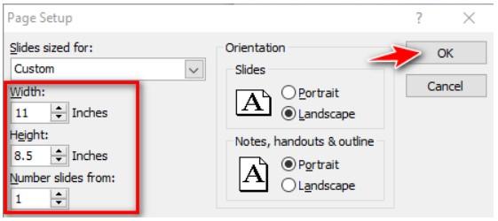 Hướng dẫn thay đổi kích thước cho PowerPoint 4