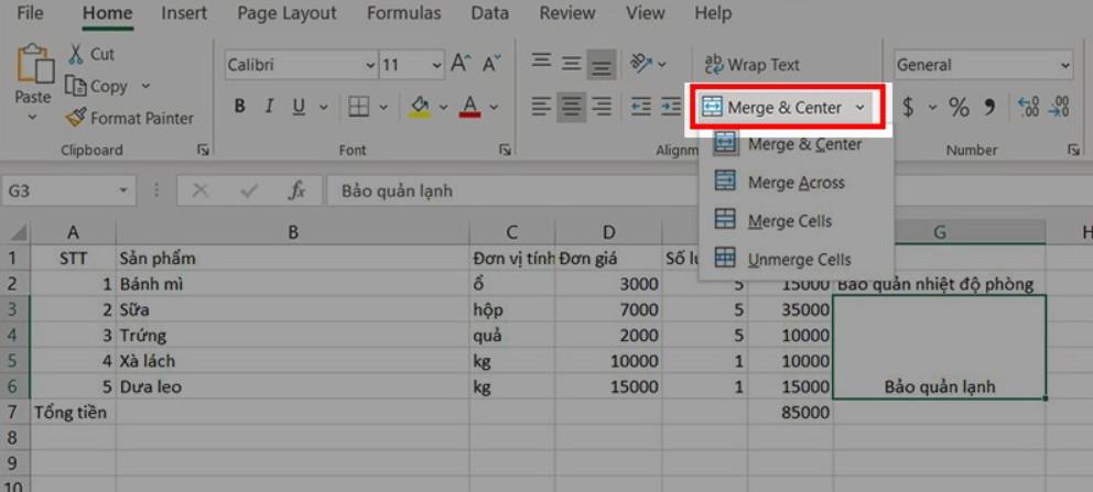 Hướng dẫn gộp nhiều ô thành 1 ô trong Excel không bị mất dữ liệu 11