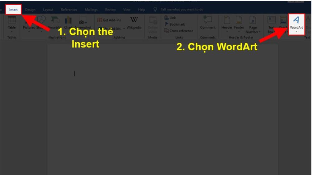 Cách tạo chữ nghệ thuật trong Word chuyên nghiệp 2