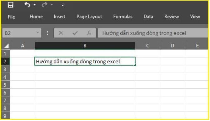 Làm thế nào để xuống dòng trong Excel 2003, 2016.. 2019? 2