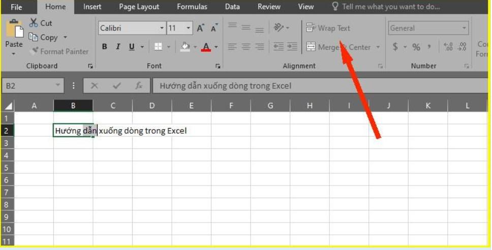 Làm thế nào để xuống dòng trong Excel 2003, 2016.. 2019? 10