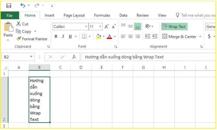 Làm thế nào để xuống dòng trong Excel 2003, 2016.. 2019? 12