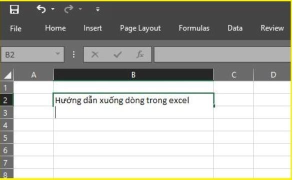Làm thế nào để xuống dòng trong Excel 2003, 2016.. 2019? 3