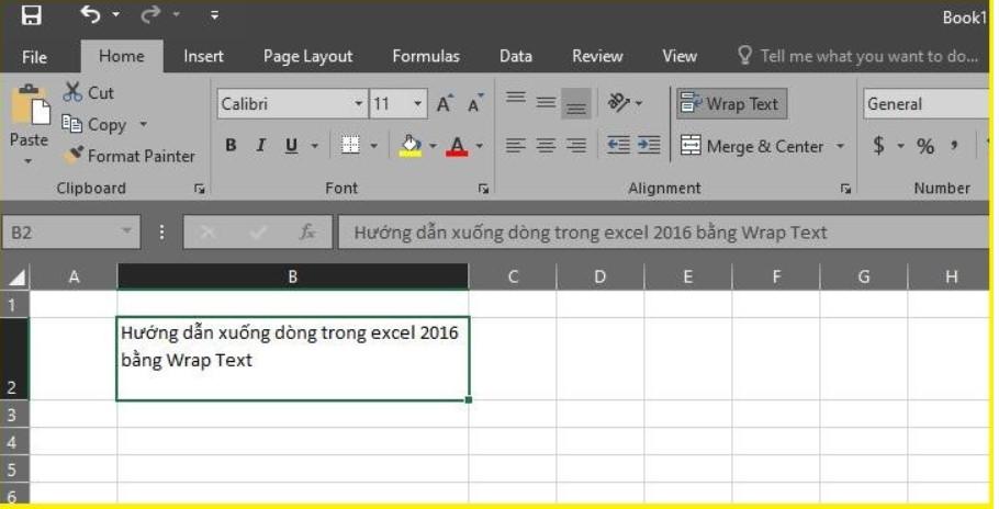 Làm thế nào để xuống dòng trong Excel 2003, 2016.. 2019? 5