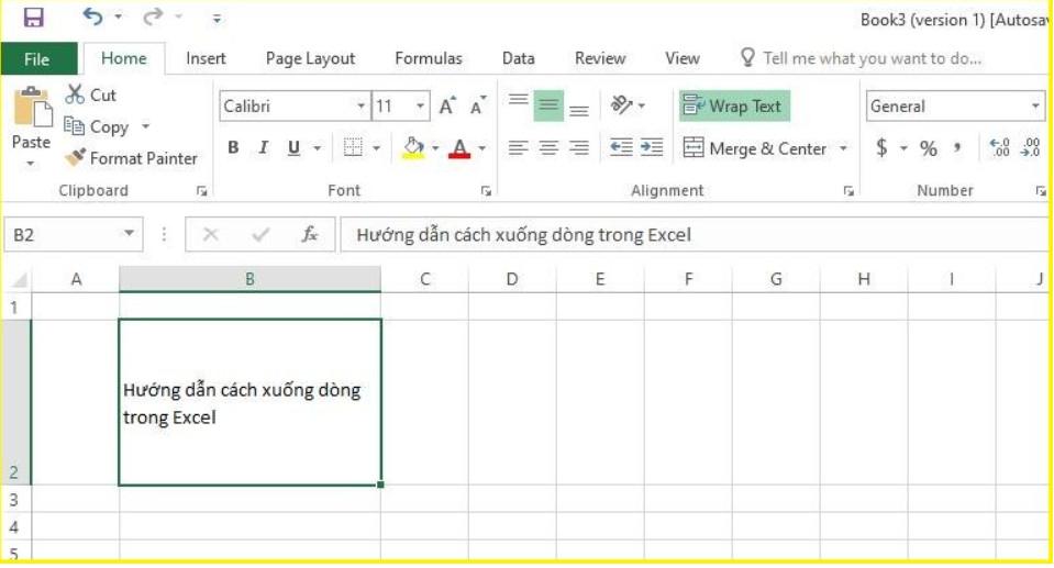 Làm thế nào để xuống dòng trong Excel 2003, 2016.. 2019? 8