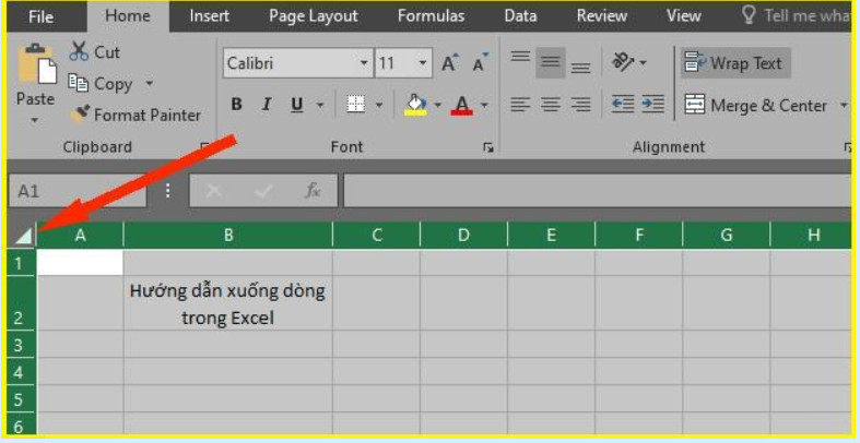 Làm thế nào để xuống dòng trong Excel 2003, 2016.. 2019? 9
