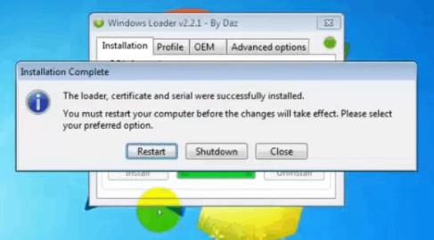Cách Active Win 7 và Crack Win 7 vĩnh viễn với Windows Loader 2.2 3