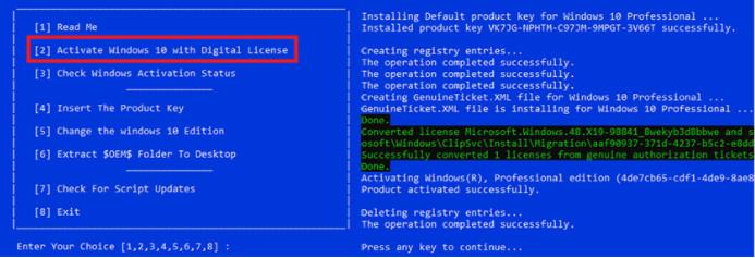 Cách Active Win 10 Pro bằng CMD + KMSpico vĩnh viễn bản 32bit/64Bit 4