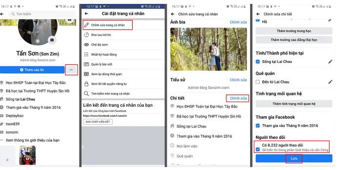 Cách hiển thị số người theo dõi trên facebook đơn giản 4