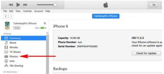 Hướng dẫn cách copy ảnh từ iphone sang máy tính bằng iTunes 8