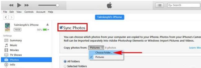 Hướng dẫn cách copy ảnh từ iphone sang máy tính bằng iTunes 9