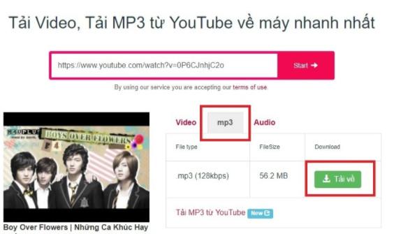Cách tải nhạc MP3 từ video trên Youtube 5