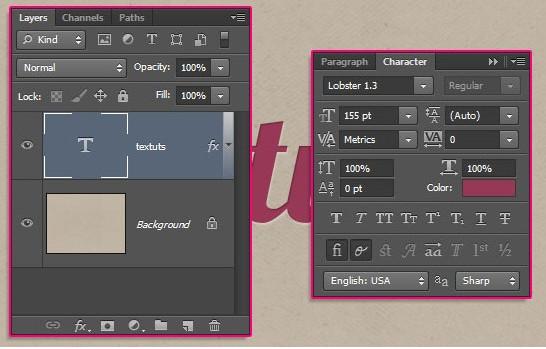 Cách xoay chữ trong Photoshop cho mọi phiên bản 1