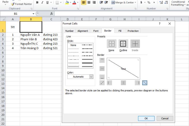 Cách chia cột trong Excel, cách tách 1 ô thành 2 ô trong Excel 9
