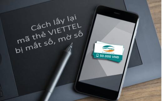 Cách lấy lại mã số thẻ cào Viettel khi bị mất, hỏng, rách thẻ cào 1