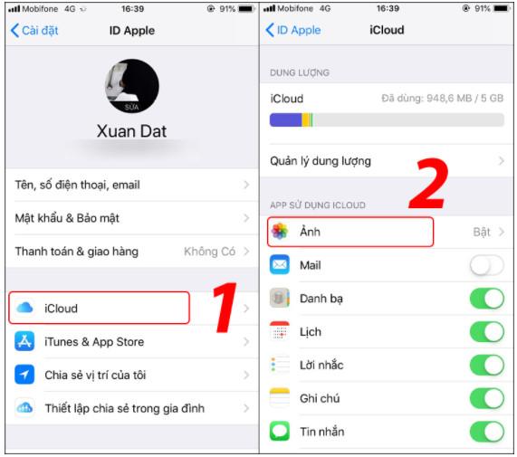 Hướng dẫn cách xoá ảnh sao lưu trên iCloud cho iPhone, Ipad nhanh nhất 12