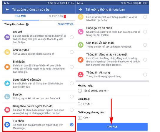 Cách khôi phục tin nhắn đã xóa trên messenger bằng điện thoại hiệu quả 7